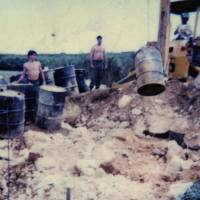 Evidence ignored in Pentagon probe: A picture supplied by Kris Roberts, the former maintenance chief at Futenma air station, shows the worksite where he says he unearthed some 100 barrels of Agent Orange in 1981. Roberts, who is now a state representative in New Hampshire. | JON MITCHELL