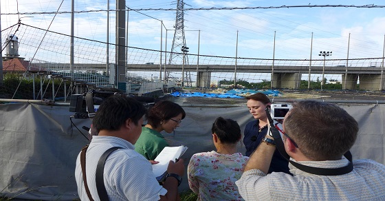 Heather A. Bowser Stands Feet Away From Okinawa Grounds In Question November 2013